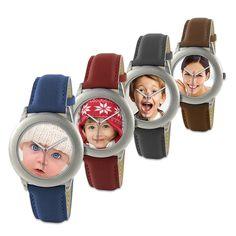 Une montre pour femme (ou pour homme) dont le cadran sera personnalisé avec l'image de votre choix, pour faire un cadeau unique et utile.