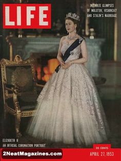 Mace (@RoyaleVision) | Twitter:  Queen Elizabeth II, Life Magazine, April 27, 1953