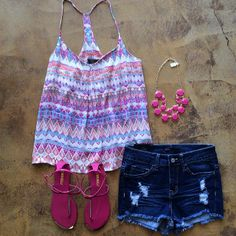 Cute summer outfit | Cute for the beach http://www.AmericasMall.com