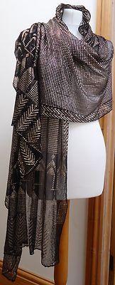 "Stunning Antique Vintage Assuit Shawl ~ 103"" Long ~ Egyptian Tribal Belly Dance | eBay"