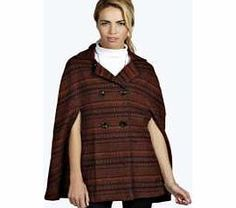 boohoo Aztec Wool Look Cape - orange azz26020 Breathe life into your new season layering with the latest coats and jackets from boohoo. Supersize your silhouette in a puffa jacket, stick to sporty styling with a bomber, or protect yourself from t http://www.comparestoreprices.co.uk/womens-clothes/boohoo-aztec-wool-look-cape--orange-azz26020.asp