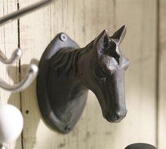 Equestrian Horse Hook #potterybarn