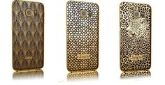 Versions come in crocodile, ostrich or lizard leather and features a diamond studded bezel Diamond Studs, Samsung Galaxy, Product Launch, Fancy, Iphone, Lineup, Gold, Leather, Gadgets