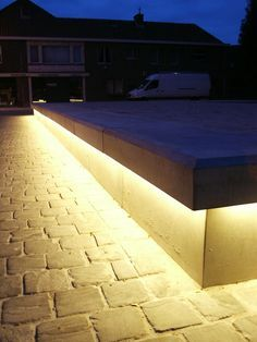 uplighting urban benches - Google Search