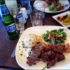 Turkish kebabs at Anatolia | Tasty Turkish food that won't break the bank. Their kebabs are lovely, and their hummus is the best stuff around. Plus, they even serve Efes. Perfect.