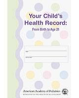 Your Child's Health Record from the American Academy of Pediatrics offers parents a clear, concise method for tracking and recording their child's health information from infancy through age 21. #healthrecord #babybook #growthchart