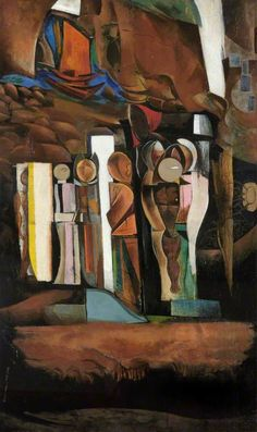 One of the Stations of the Dead, by Wyndham Lewis (British John Bratby, Wyndham Lewis, Duncan Grant, Art Database, Art Uk, Your Paintings, Art Boards, British Artists, Futurism