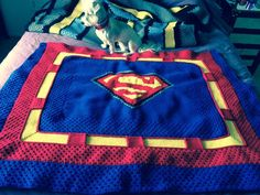 Superman Crochet Blanket Pattern is on its way!  Check it out on Facebook.
