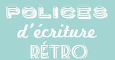 Police d'écriture rétro à télécharger