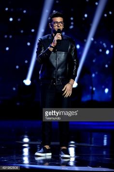 News Photo : Piero Barone of Il Volo on stage during the 2015...