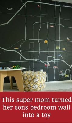 This Super Mom Turned Her Son's Bedroom Wall Into A Toy