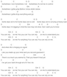 Jason Mraz You Can Rely On Me Chords