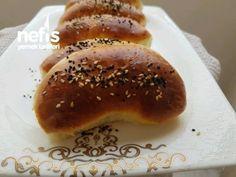 Kabardıkça Kabaran Labneli Poğaça Tarifi – Videolu - Nefis Yemek Tarifleri Turkish Recipes, Hamburger, Pancakes, Breakfast, Bread, Morning Coffee, Crepes, Hamburgers, Turkish Food Recipes