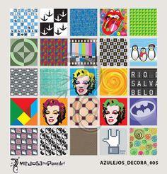 Azulejos Adesivos Decora nº 005 www.mejoganaparede.com.br