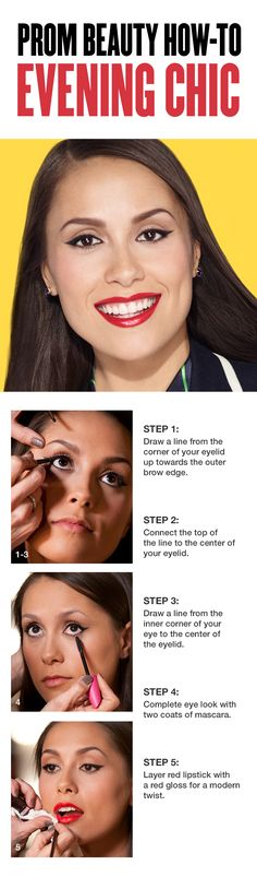 , Try this modern red lip and black winged liner tutorial! Step With COVERGIRL . , Try this modern red lip and black winged liner tutorial! Step With COVERGIRL .-Try this modern red lip and black winged liner tutorial! Step W. Christina Aguilera, Pretty Makeup, Makeup Looks, Amazing Makeup, Makeup Tips, Eye Makeup, Mascara, Black Brows, Step By Step Hairstyles