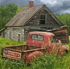 Own a 50's era Chevy truck and a barn!