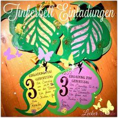 Tinkerbell Einladungen zum Kindergeburtstag - Party invitations | Leckerwerke