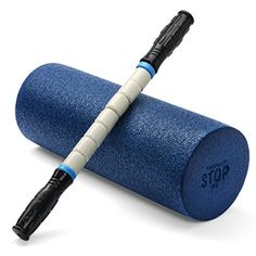Exercise Foam Roller - Professional Grade, High-Density Incorporates Unique 2 In 1 Trigger-Point Design - Massages, Soothes, Refreshes And Invigorates - Fits Conveniently Inside Your Sports Bag - Dark Blue