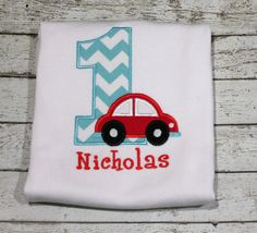 Boy's Car Birthday Shirt Numbers 19 available by thesimplyadorable, $24.00