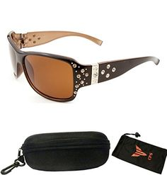 9bcc3d492 Polarized Lenses UV Ray Protection Fashion Designer Rhinestones Women Large  Sunglasses Eyewear ** You can get more details by clicking on the image.