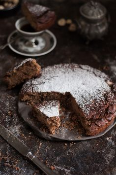 """caffé col cioccolato: torta farina di castagne, rapida e """"senza"""""""