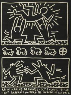 #KeithHaring | Keith Haring Drawings/Shafrazi Gallery | Michael Lisi / Contemporary Art www.printed-editi...