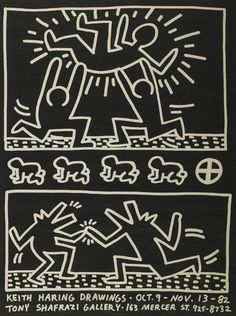 #KeithHaring | Keith Haring Drawings/Shafrazi Gallery | Michael Lisi / Contemporary Art http://www.printed-editions.com/artwork/keith-haring-keith-haring-drawingsshafrazi-gallery-25392