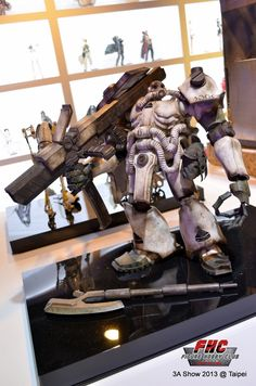threeA x Bandai Zaku Ashley Wood inspirational model on display at our show in Taiwan, hosted by Beast Kingdom Toys, in April 2013