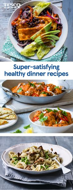 Enjoy a healthy yet delicious dinner with these flavour-packed recipes , including your favourite curries, pastas and stir-fries, plus veggie and vegan options, too. You won't believe they're actually healthy! Paleo Dinner, Healthy Dinner Recipes, Indian Food Recipes, Vegetarian Recipes, Cooking Recipes, Cooking Tips, Oven Recipes, Healthy Dinners, Recipies