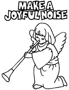 Make a joyful noise to the Lord coloring page