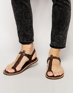 ASOS Sandals With Woven Leather Strap