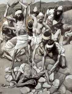 Sabbath Breaker Stoned Giclee Print Poster by James Tissot Online On Sale at Wall Art Store – Posters-Print.com