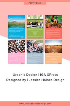 IGA Express was a graphic design project I worked on for a local supermarket. I created a series of posters, flyers and social media graphics that were used to raise awareness of their fundraising for Australian farmers suffering from drought Graphic Design Projects, Graphic Design Posters, Social Media Graphics, Website, Portfolio Design, Farmers, Fundraising, Branding Design, Web Design