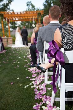 rose petals lining the isle is perfect touch for an already beautiful backdrop- photo taken by Matt Mason Photography