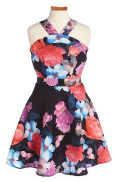 Miss Behave 'Allison' Floral Print Dress (Big Girls) available at #Nordstrom