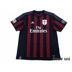 Photo1: AC Milan 2015-2016 Home Shirt #72 Prince Boateng Champions League Trophy Patch/Badge Calcio Patch/Badge adidas - Football Shirts,Soccer Jerseys,Vintage Classic Retro - Online Store From Footuni Japan