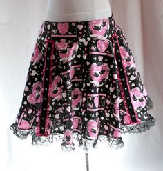 free pattern rockabilly circle skirt