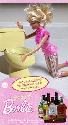 Boozin Barbie!