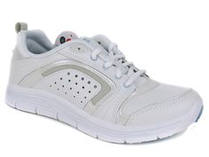 Easy Spirit Women's Lite Walk Lace Up Sneakers White Combo Leather Size 6 M #EasySpirit #RidingEquestrian