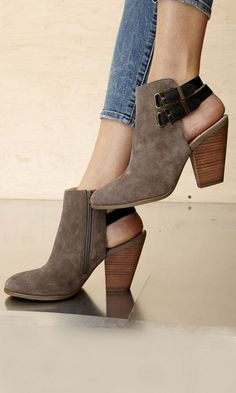 Cutout Booties glamhere.com Perfect spring cutout Booties