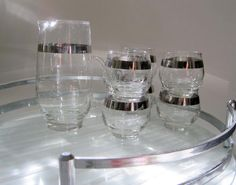 Mid Century 1960s Glasses Silver Band ROLY by SharetheLoveVintage, $36.00