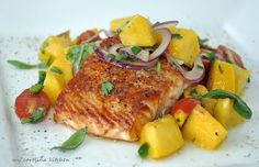 My Carolina Kitchen: Salmon with Tomato Peach Salsa – a spicy way to en...