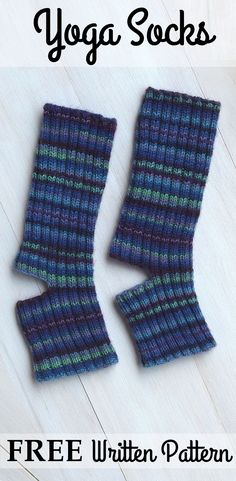 Free simple pattern for yoga socks, nice and detailed for beginners, adaptable, different binding off options