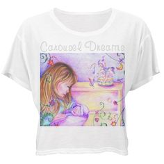 #CarouselDreams #BellaFlowy #BoxyLightweightCropTopTshirt w/ #RhinstoneLetters by #MoonDreamsMusic