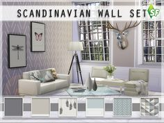 Scandinavian Wall Set - The Sims 4 Catalog
