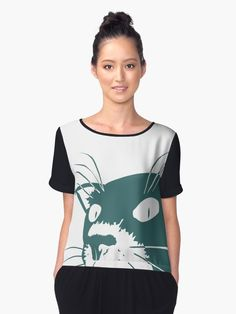 235a3371c435c  Somchai the Cat  Women s Chiffon Top by Pierre Zuber