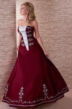 Claret and silver Elegant Dresses, Formal Dresses, Wedding Dresses, Marching Band Uniforms, Super Cute Dresses, Diy Clothes, Strapless Dress Formal, Dressing, Boho