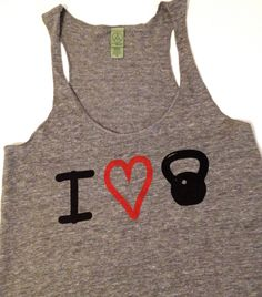 Kettlebell Workout Tank // Abundant Heart by AbundantHeartApparel