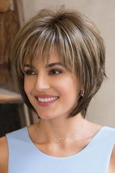 Reese PM by Noriko Wigs - Partial Monofilament Wig. Love the cut for short hair. Reese PM by Noriko Wigs - Partial Monofilament Wig. Love the cut for short hair. Latest Short Hairstyles, Short Layered Haircuts, Layered Bob Hairstyles, Hairstyles Over 50, Cool Hairstyles, Pixie Haircuts, Haircut Short, Gorgeous Hairstyles, Hairstyle Ideas
