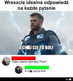 Marvel Memes, Marvel Avengers, Polish Memes, Past Tens, Funny Mems, Wtf Funny, Bts Memes, Texts, Haha
